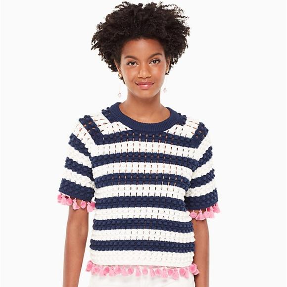 kate spade Sweaters - Kate Spade Bauble Short Sleeve Sweater XXS